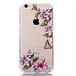 Flowers TPU+Acrylic Anti-Scratch Backplane Combo Phone Case for iPhone 6/6S