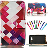 Coloured Drawing or Pattern Graphic Wallet Cases with Stand Full Body Cases for Samsung Galaxy A5/A7