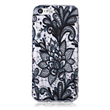 Flower Pattern Transparent TPU Soft Case for iPhone5c