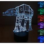 visuelle 3d atmosphère de l'humeur de modèle de robot conduit décoration usb lampe de table cadeau coloré lumière de nuit
