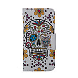 Skull Pattern Card Stand Leather Case for iPhone 6/6S