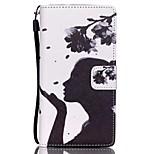 HZBYC®Dandelion Girl Pattern PU Material Card Lanyard Case for Huawei P8 Lite