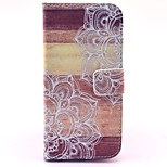 Mandala Flower Wood Pattern PU Leather Stand Case Cover with Card Slot for iPhone 6/6S 4.7 Inch