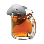 100% Food Safe! 1Piece Shark Tea Infuser / Shark Attack Tea Strainer Gray Safety High Quality Silicone Rubber