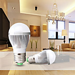 1pcs E26/E27 7W Warm White / Cool White Aerospace Aluminum  Luxury Decorative Globe Bulbs