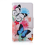 Colored Butterflies Painted PU Phone Case for Sony Xperia Z5 Compact