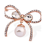 The High-End All-Match Bow Of Pearl Brooch