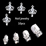 10pcs Imperial Crown Nail Alloy Jewelry