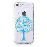 Blue Tree Pattern Transparent TPU Soft Case for iPhone5c