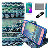 COCO FUN® Circle Tribal Pattern PU Leather Case with V8 USB Cable, Flim and Stylus for Samsung Galaxy A3