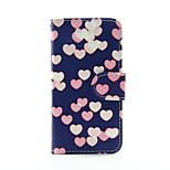 Colorful Heart PU Leather Wallet Full Body Case for iPod Touch 5/6