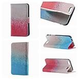 spécialement conçu à double face dessin colorié ou un motif PU cas flip en cuir pour iPhone 5 / 5s