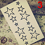 Temporary Tattoos Stickers Non Toxic Glitter Waterproof Multicolored Glitter 1 Package 17*13CM Pentagram