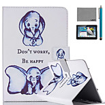 LEXY® Small Elephant Pattern PU Leather Flip Stand Case with Screen Protector and Stylus for iPad Mini 1/2/3