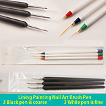 6PCS Lining Painting Nail Art Brush Pen