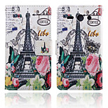 Paris Iron Tower Pattern Card Stand Leather Case for Huawei Y530/Y550
