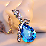 Angel tear clavicle crystal pendant jewelry necklace female sports han edition fashion personality