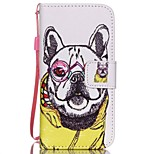 HZBYC®Shar Pei Pattern PU Material Card Lanyard Case for iPhone 5/5S