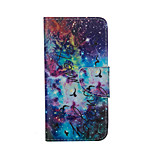 Starry Sky Pattern Card Stand Leather Case for iPhone 6/6S