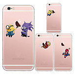 maycari®cartoon mostrar el caso suave transparente TPU para iPhone5 5s / iphone (colores surtidos)