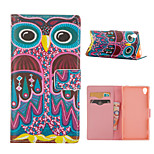 Owl Pattern Card Stand Leather Case for Sony Xperia Z3/Z4
