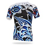 Men's Cycling Tops Short Sleeve Bike Spring / Summer / Autumn Breathable / Ultraviolet Resistant / Sweat-wicking Blue