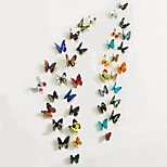 3D Wall Stickers Wall Decals, 38 Pcs Set of 2 Emulational Butterfly PVC Wall Stickers