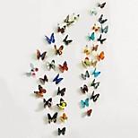 Animais / Romance / Paisagem / 3D Wall Stickers Autocolantes 3D para Parede , PVC 2 Pcs*22*30 cm(8.6*11.8 in)
