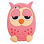 2015 Hot Fashion Luxury Top Quality 3D Cute Owl Face Silicone Back Phone Case Cover for iPhone 6/6S(Assorted Colors)