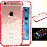 2-in-1 Holy Flower Pattern TPU Back Cover with PC Bumper Shockproof Soft Case for iPhone 6/6S