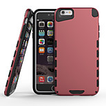 2 In 1 Design PC and TPU Back Case for iPhone 6/6s(Assorted Colors)