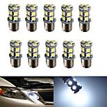 10pcs HRY® 1156 13SMD 5050 White Color Brake Tail Turn Signal Light Bulb Lamp  Auto Led Car Bulb Light (12V)