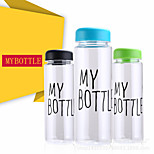 My Bottle 500 ml With Gift Bag Plastic Water Bottle Sport Lemon Juice Circle Clear Bottle