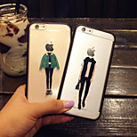 Lovers Winter Girl And Cool Man Pattern Hard And Soft TPU Case for iPhone 5/5s