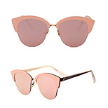 100% UV400 Cat Eye Fashion Mirrored Half-Rim Sunglasses