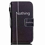 HZBYC®Nothing Pattern PU Material Card Lanyard Case for iPhone 4/4S