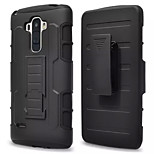 3 in 1 Impact Black Armor Hybrid Case With Belt Swivel Clip Stand for LG G4 STYLUS/LS 770
