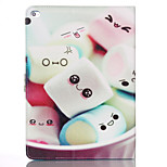 Cartoon Marshmallow Pattern PU Material Flip Bracket Protective Case for iPad  Mini 4 (Assorted Colors)