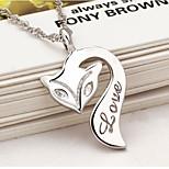 Necklace pendant female fox fire brief paragraph collarbone silver ornaments Han edition joker fashion