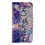 The New Stars and Black Letters PU Leather Material Flip Card Cell Phone Case for iPhone 6 /6S