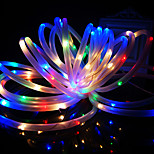 King Ro New solar 24.6ft 50LED RGB Wedding Party Decoration Light Outdoor Waterproof Rope Lights