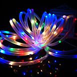 rei ro nova 24,6 pés solares 50led decoração luz festa de casamento ao ar livre impermeável rgb luzes de corda