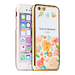 Piece Luxury Flower Pattern Plating TPU Phone Case for iPhone 5/5S