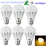 YouOKLight® 6PCS E27 7W 12*SMD5630 550LM 3000K Warm White Light LED Energy saving Globe Bulbs (AC220V)