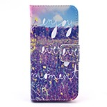 Enjoy Every Moment Pattern PU Leather Stand Case Cover with Card Slot for iPhone 5/5S