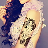 Europe Ancient Beauty Traditions Waterproof Flower Arm Temporary Tattoos Stickers Non Toxic Glitter