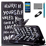 COCO FUN® Be Yourself Pattern PU Leather Case with V8 USB Cable Flim and Stylus for Samsung Galaxy Grand Prime G530