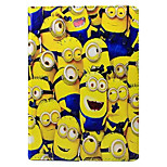 Comedy Small Yellow People Pattern PU Leather Case with Stand and Card Slot for iPad 4/3/2