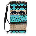 New Lanyard  Blue Stripes Pattern PU Leather Material Phone Case for Huawei P8 Lite