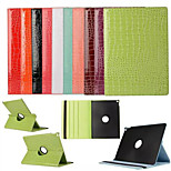 The Crocodile Grain Rotate 360 Degrees 100% Polyurethane Leather Smart Awaken  for iPad Pro(Assorted Colors)